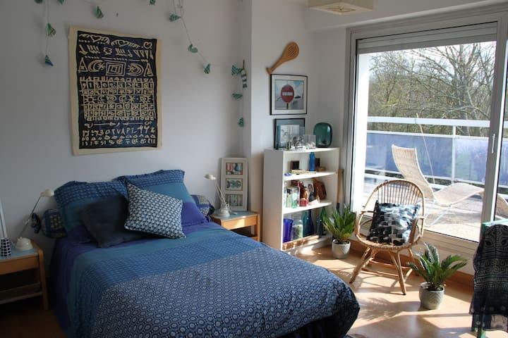 Chambre N°1 dans maison d'architecte - Loctudy - บ้าน