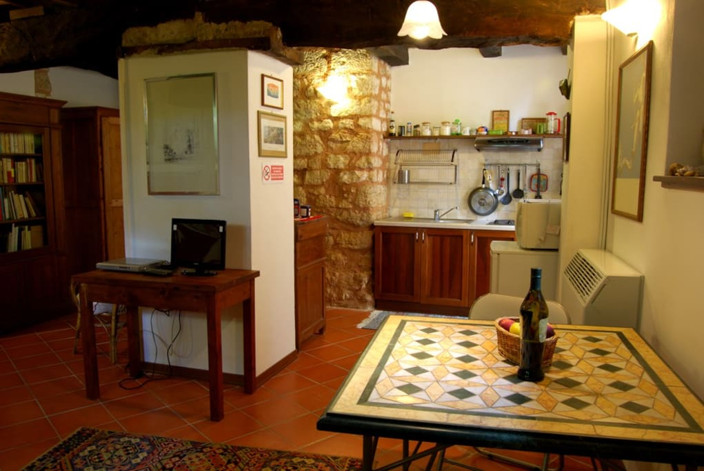 The Kitchen and living corner