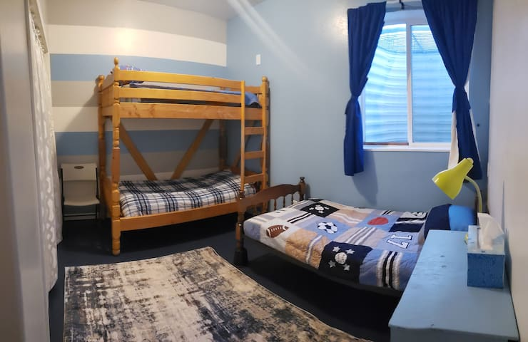 Bedroom 5; twin over twin bunk; single twin