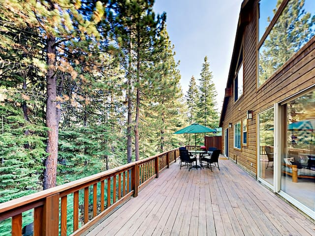 Your rental boasts abundant entertaining space with 2 large decks!