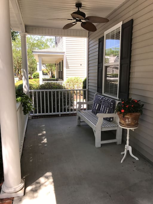 More front porch seating with fans!