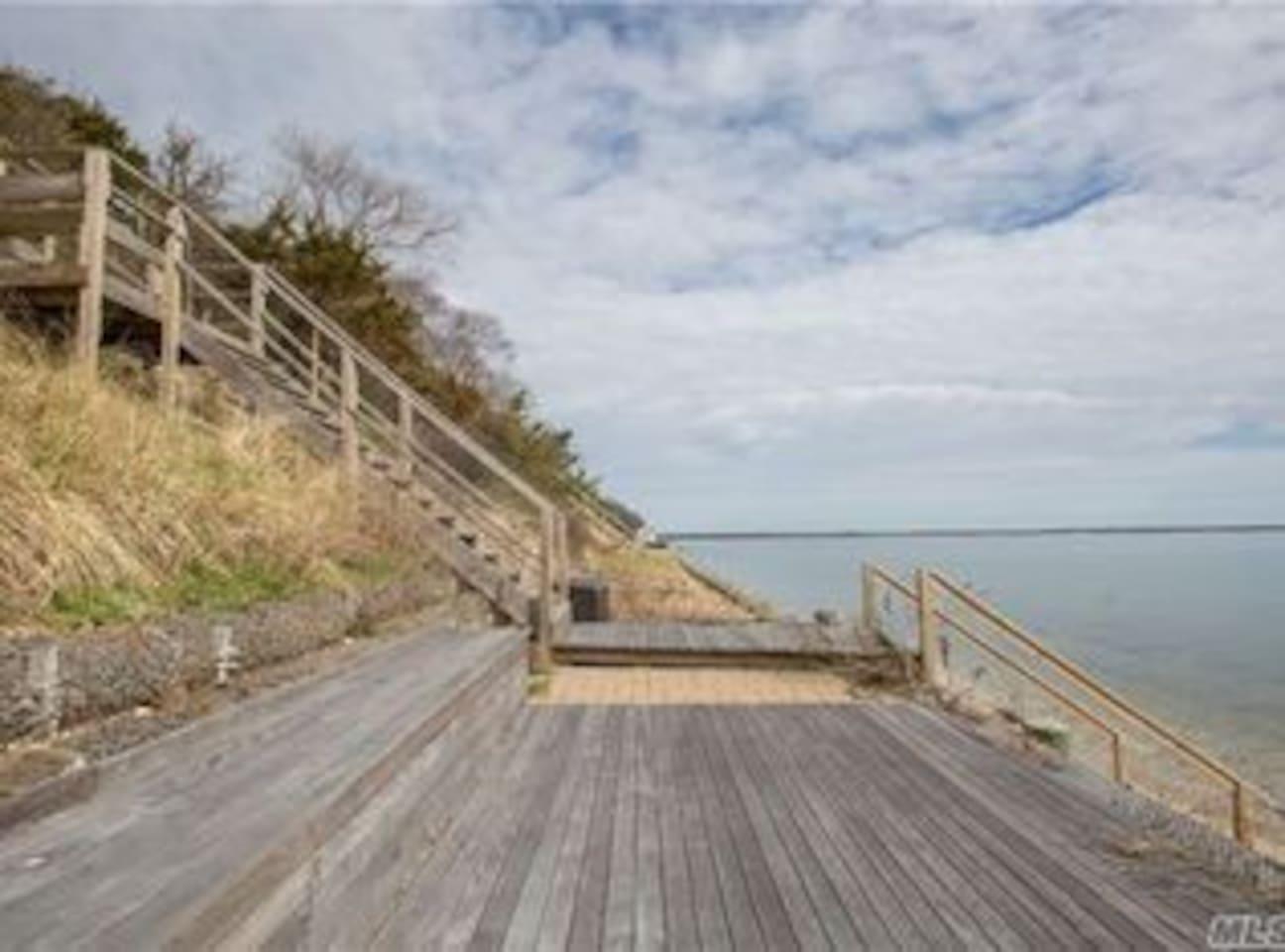 Beach Front Deck on Little Peconic Bay
