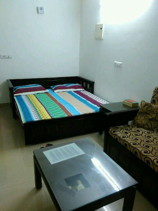 The sofa bed in the living area is also of king size