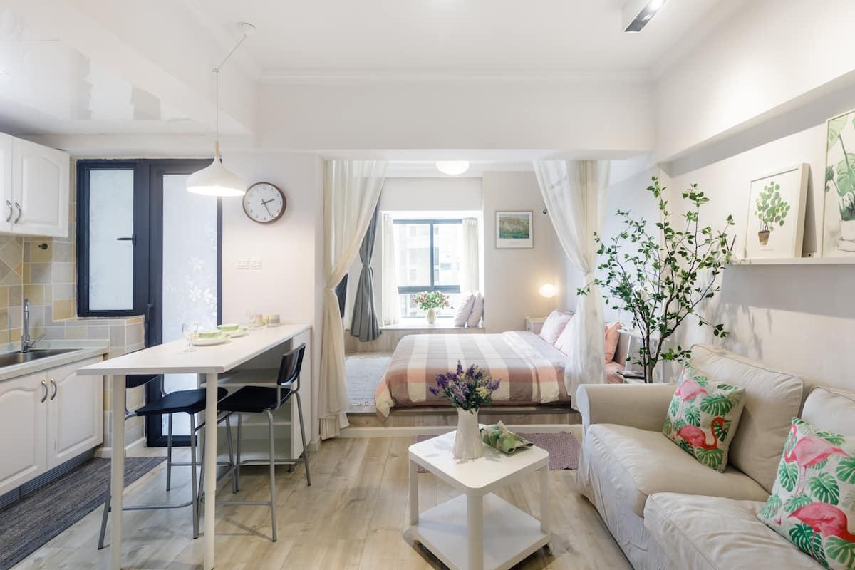 竹心小筑~地铁口美食街温馨舒适小公寓/地铁直达宽窄巷子、春熙路太古里