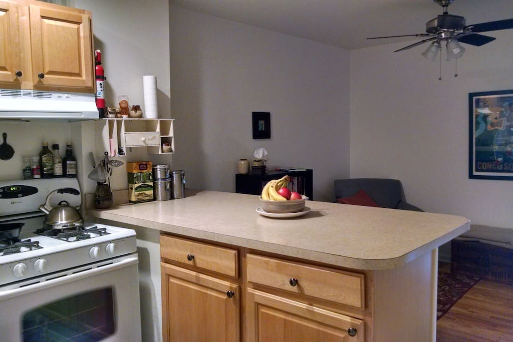 Kitchen, attached to small living room
