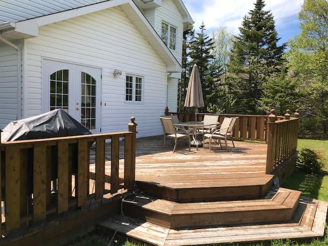 Enjoy some sun on the patio ...