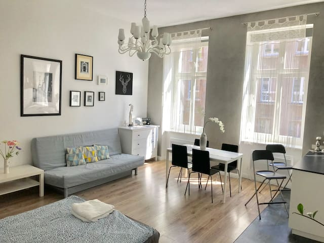 Bright Studio Space - Cozy and Very Spacious - 4 meters high!