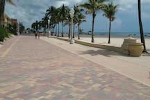 Hollywood beach broadwalk. 30 second walk from your front door!