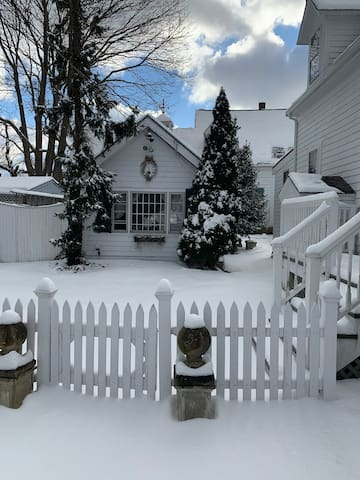 Winter scene at the cottage