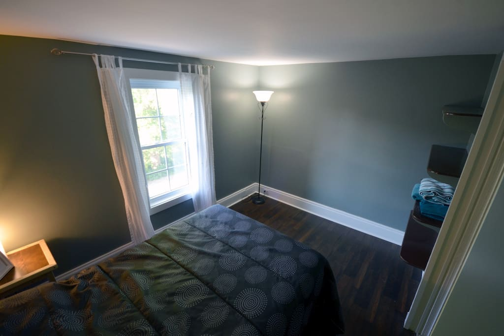 This is the standard guest room. small and simple located at the opposite end of the home from ours