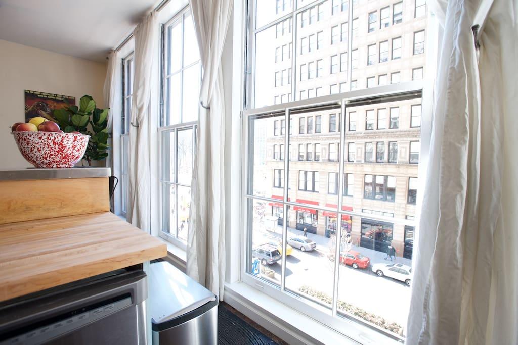 Historic unionsqr loft originally maxs kansas city for Appartamenti in affitto new york city