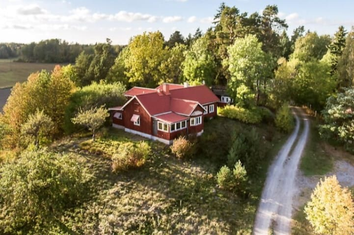 Big house in the countryside close to Stockholm.