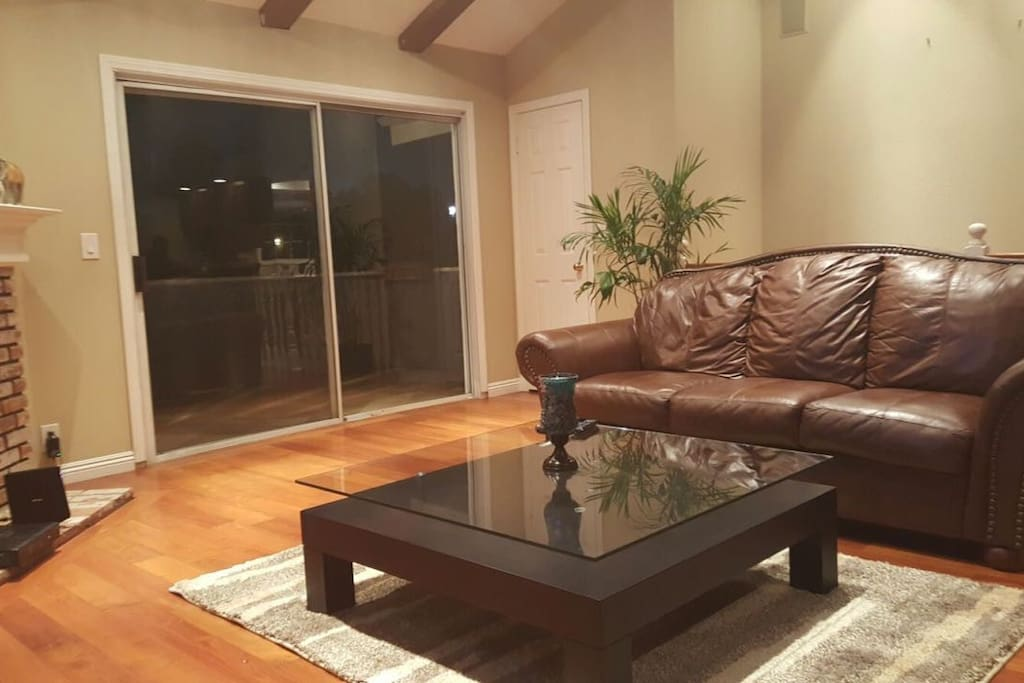 lovely & spacious Living room , accese to patio.
