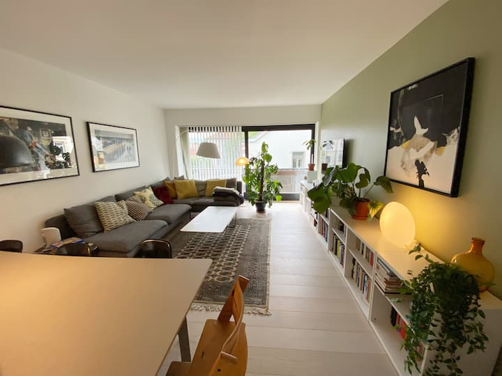 Modern and light 2-bedroom apt. centrally located
