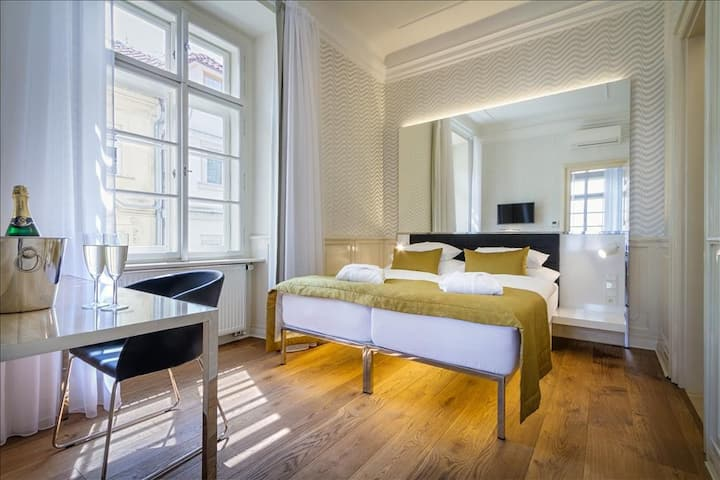 Family Deluxe room just under the Prague Castle