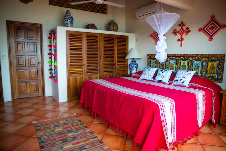 Casa Higuera has two bedroom/bathroom suites with king beds.