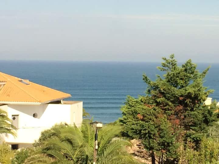 Vue mer d'exception limite Biarritz la plage àpied