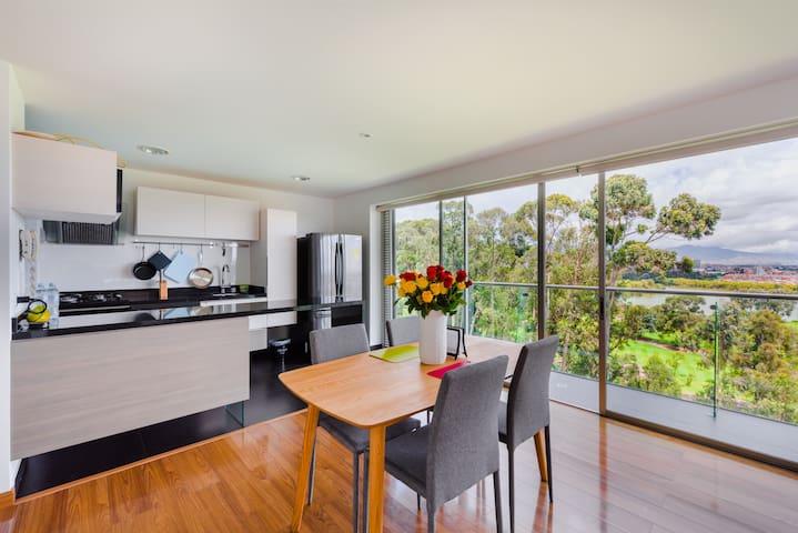 ⭐Stunning Modern Apartment & Unique View in Bogotá