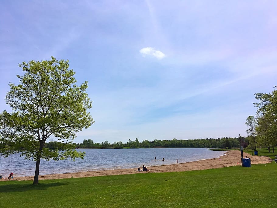 Go for a dip in Valens Lake