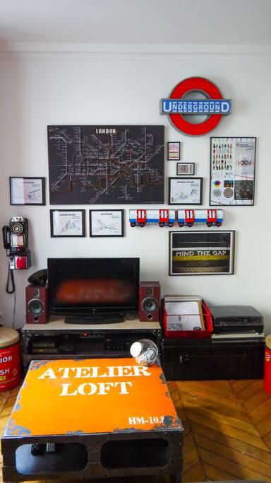 London wall, et on est à paris Platine avec vinyles mais il faut aimer la techno/house.
