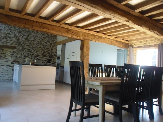 Gite, 5 personnes, Wifi, poele, grand confort .. - Litteau - House