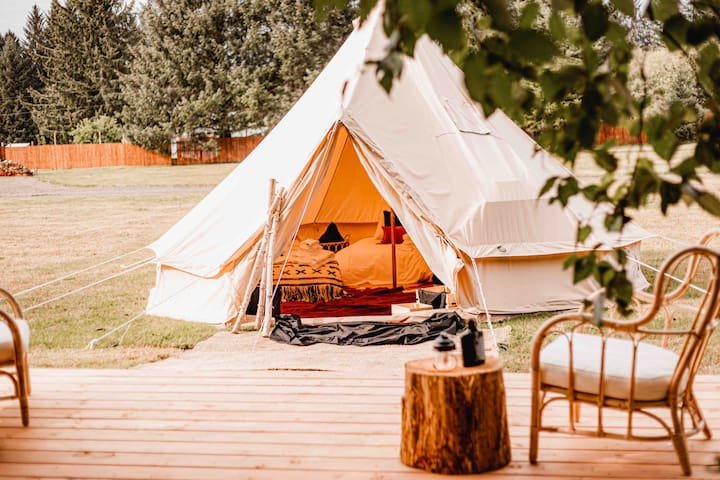 Bohème Luxury Tent in Forks | Spirit of the Wild