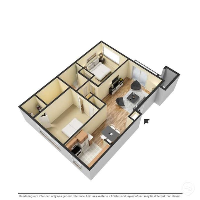 3D view of the entire apartment 3D格局图
