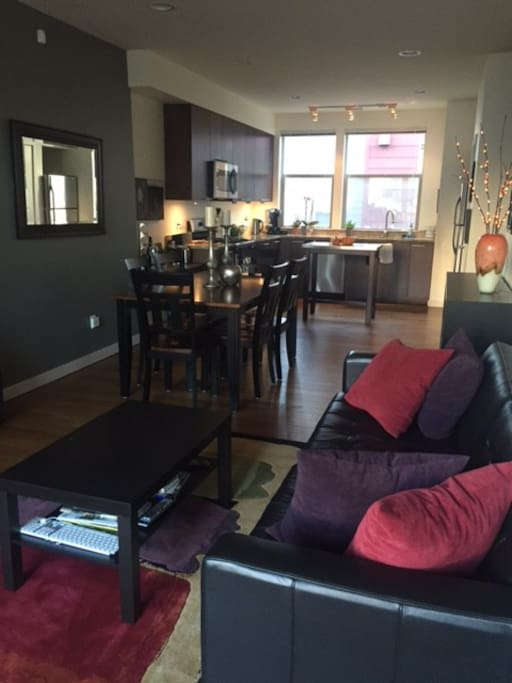 Living room, dining, kitchen