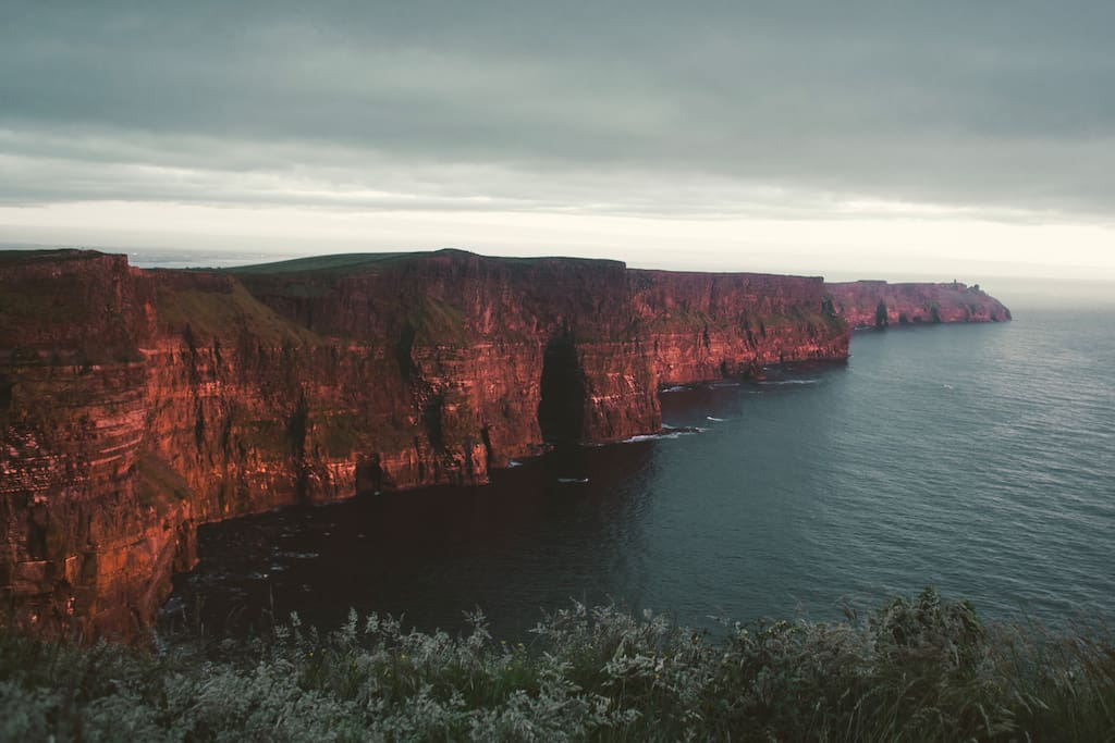 Sunset at Cliffs of Moher- picture taken 2 miles away