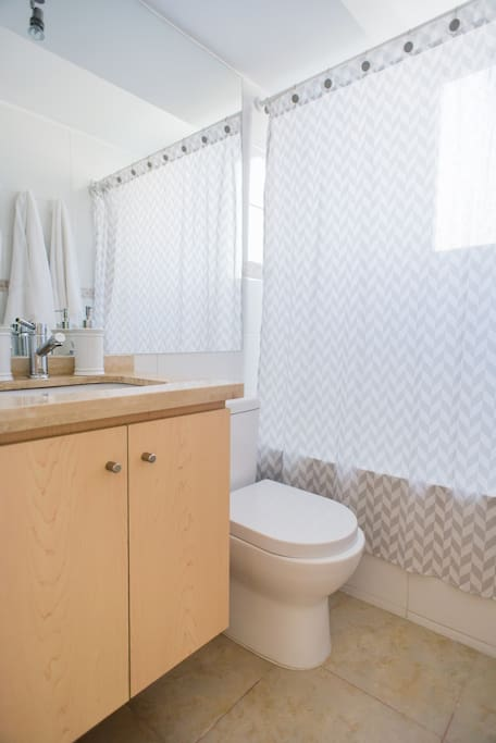 Baño del departamento (cuenta con 2)