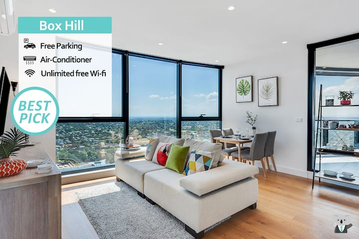 KOZYGURU | Box Hill | Designer Home With View | 2 BED + FREE PARKING | VBH850