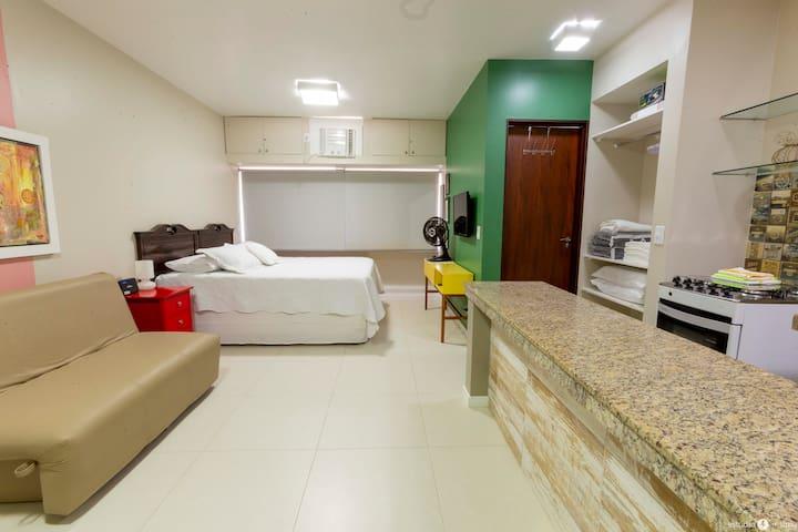 Studio Ibiza II - 01 quadra da praia