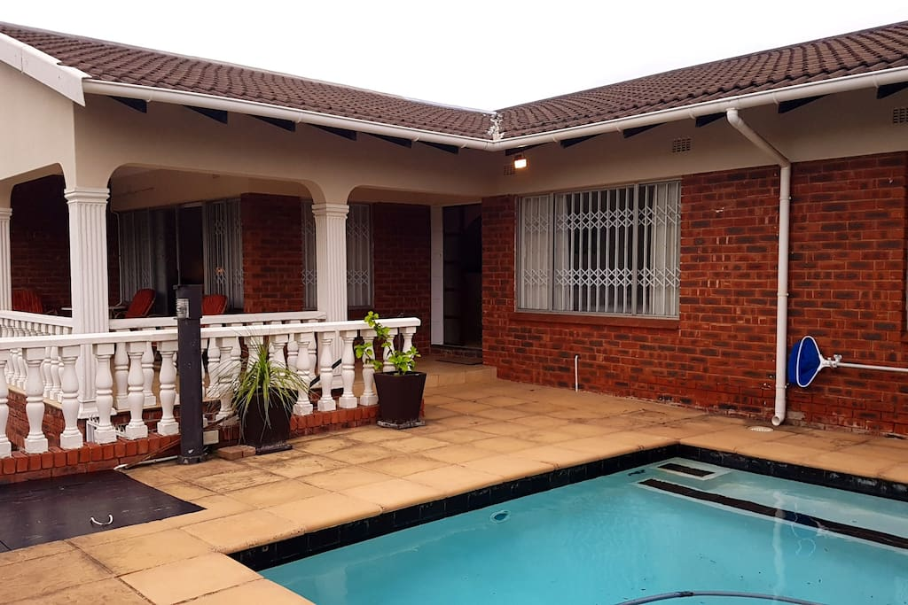 Front of unit and swimming pool
