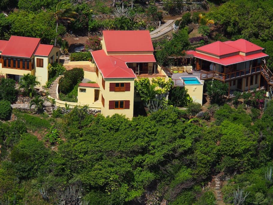 Great House Villa, set in three separate buildings in true West Indian style to promote air flow through every room.