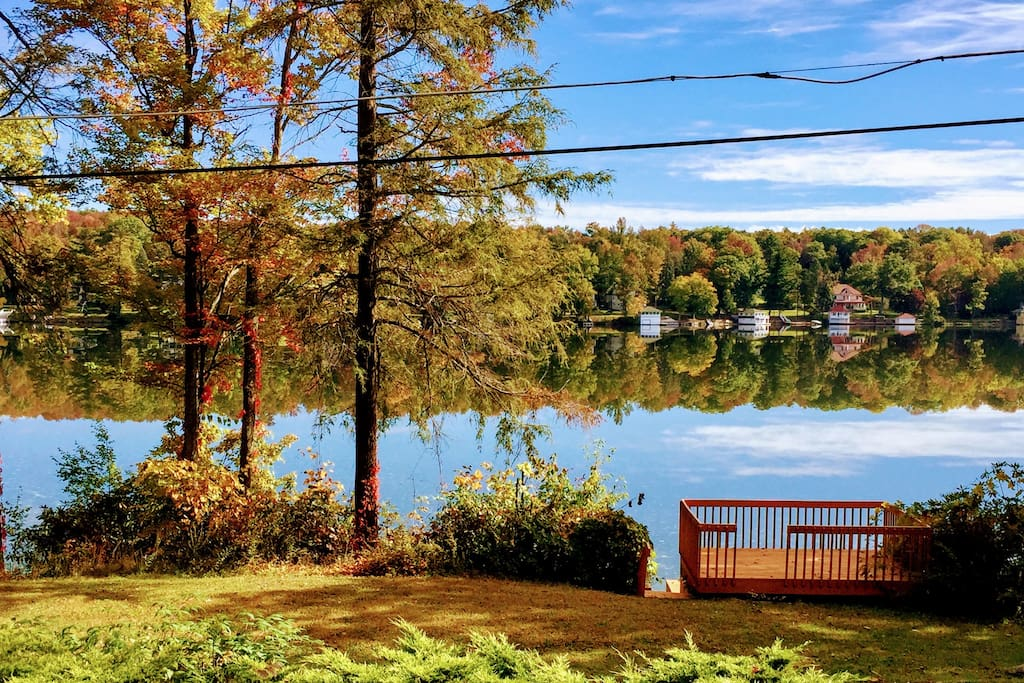 1 acre lakefront property with private dock