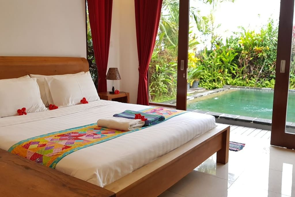 Both Bedroom Access and View to Pool