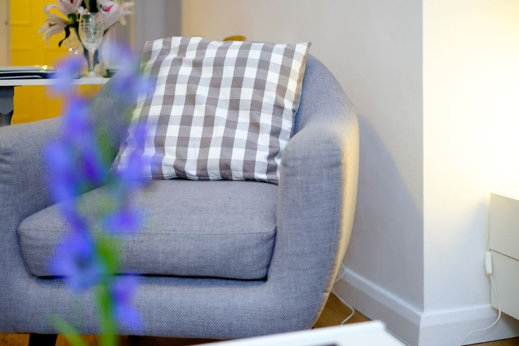 Cosy chair in lounge