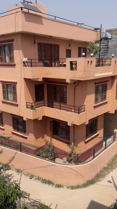 Our home occupies the top 2 floors of the building, our business is on the ground floor.