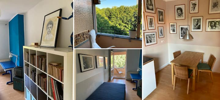 quiet centric room + balcony / cuarto muy centrico