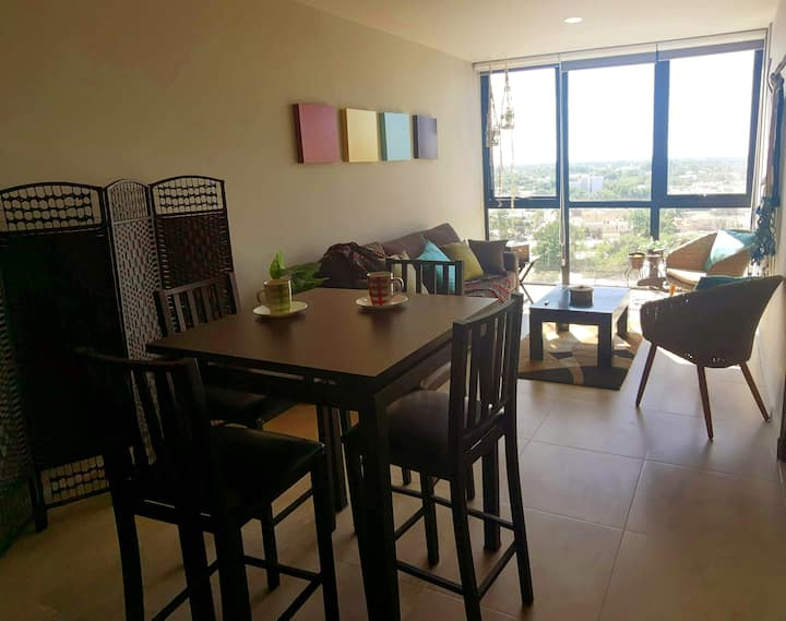 Mexican Buyan, Apartament with City Views.