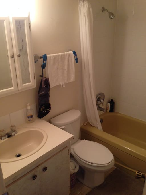 clean bathroom with good water pressure on shower