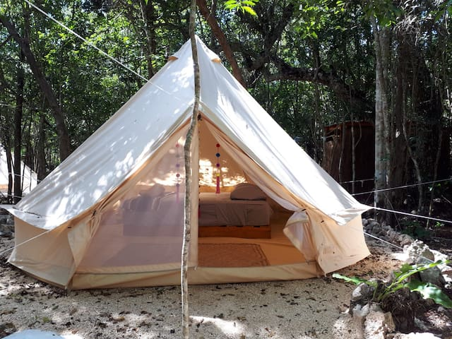 Nature Enchanting Glamping Tent w/ Queen Size Bed