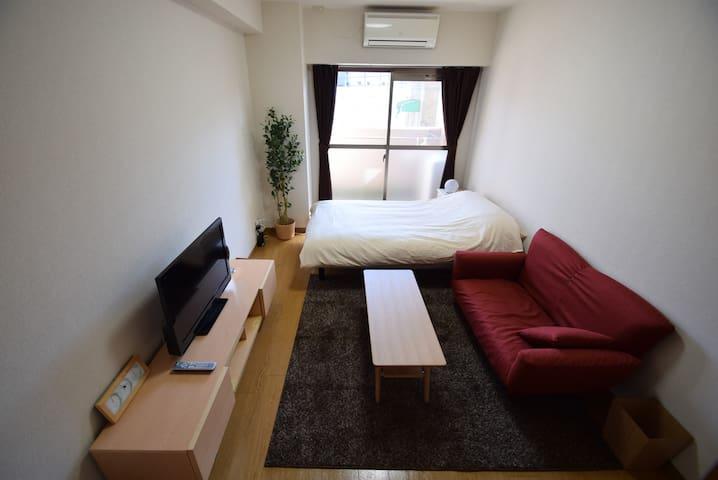Cute room!Free WI-FI 完備!京都駅まで徒歩8分! - Kioto - Departamento