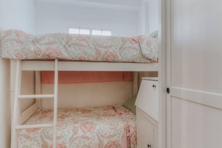second bedroom. Bunk bed is 1.85 m. long