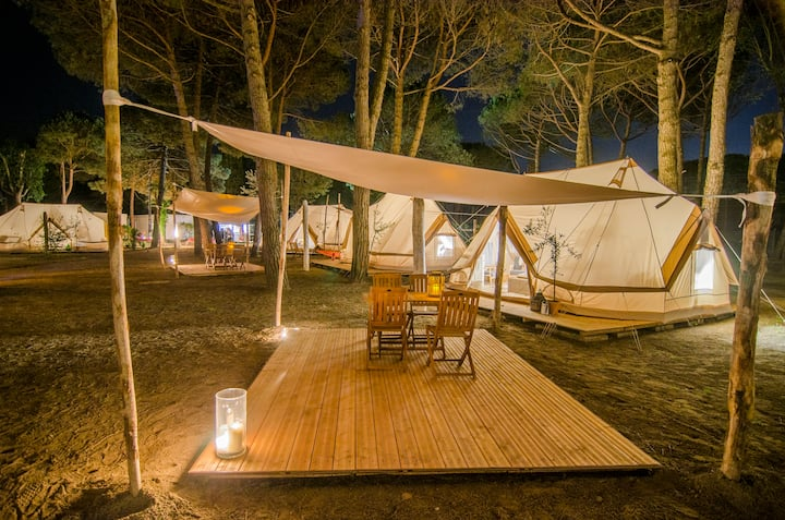 Glamping tent in Venice