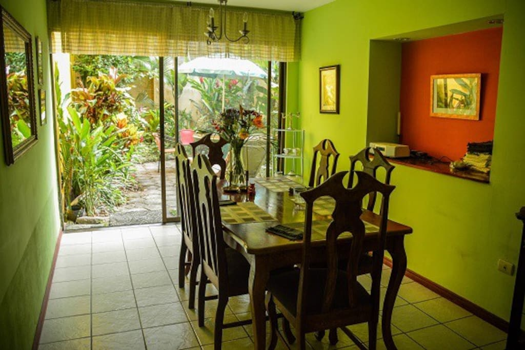 Dining room and entry to private garden