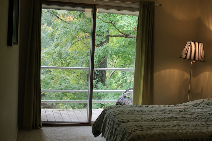 The Riverhouse: Bedroom w/ balcony! - Prospect