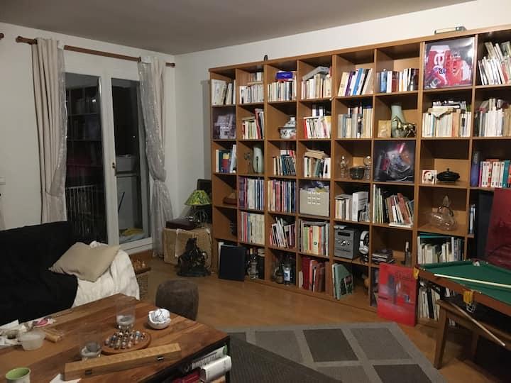 Chambre dans un bel appartement à 25mn de l'Etoile