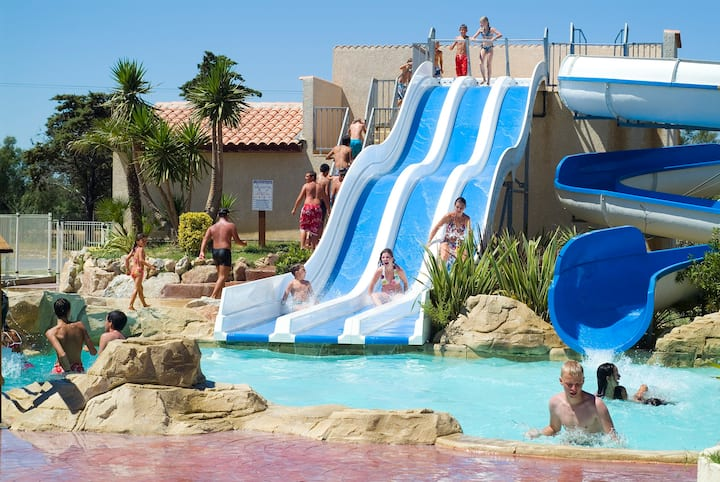 Camping Les Mûriers - Cottage VIP 2chs 4pers