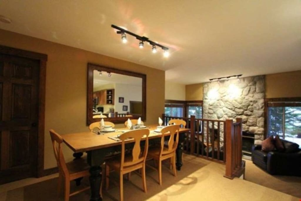Entertain or host dinner parties at the large dining room table.